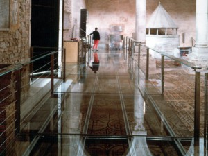 Glass Walkway in the Basilica of Aquileia