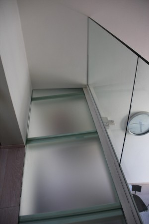 glass floor in private house