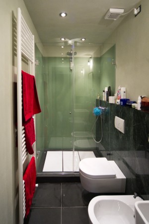 shower in a private home