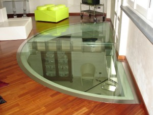 shaped glass floor