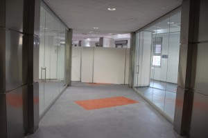 Hospital - Glass partitions with system packaging