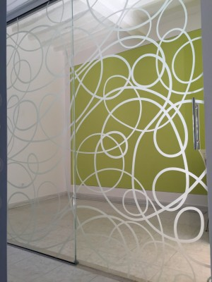 fixed and sliding door glass with digital printing on glass