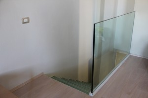 glass railings in a private home