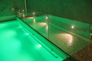 Glass Railings for Indoor Pool